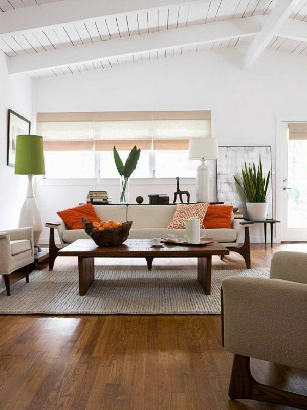 chambre-zen-un-plafond-blanc-et-déco-avec-plantes-vertes