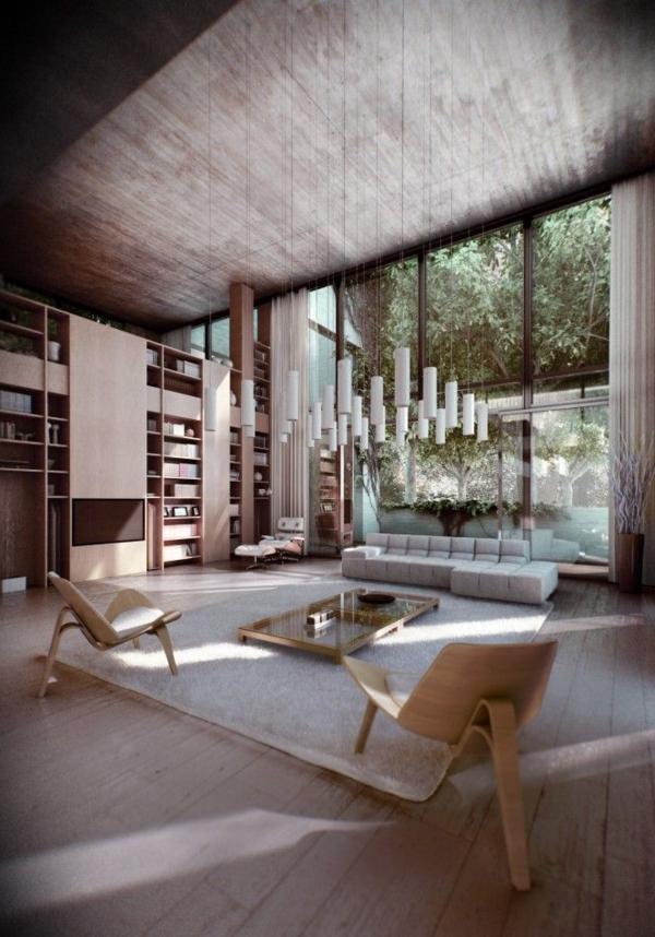 chambre-zen-un-salon-fantastique-plusieurs-lampes-pendantes
