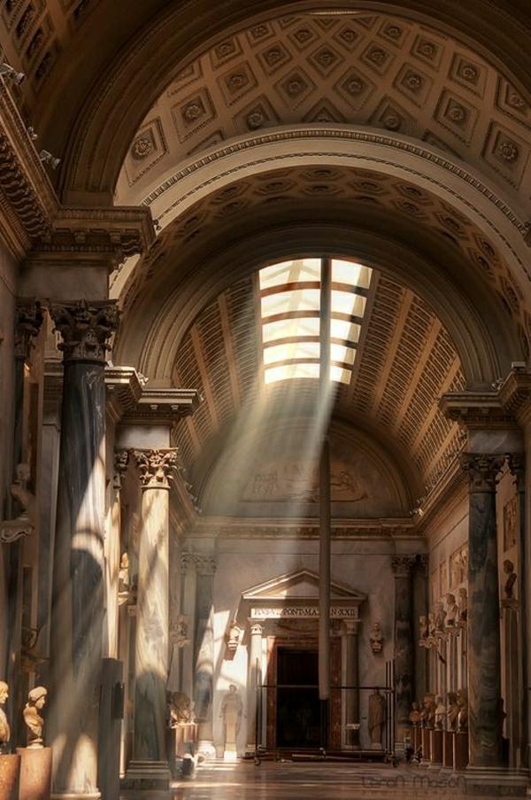 chateau-architecture-classique-couloir-vintage-lumière-baroque