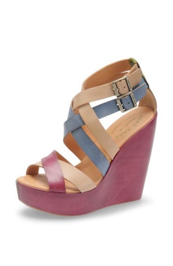 chaussures-platforme-rose-bleu-beige-en-cuir-femme-mode