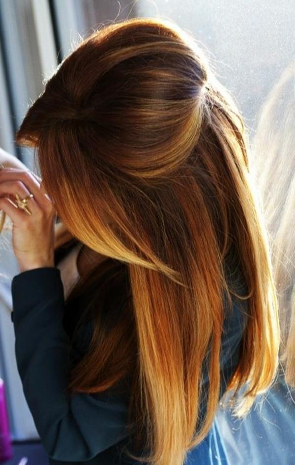 cheveux-balayage-brunette-fille-coiffure-négligente