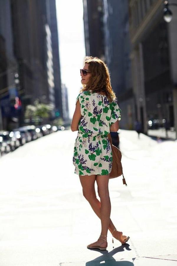 combinaison-élégant-femme-mode-ete-2015-combinaison-fleurs-sandales