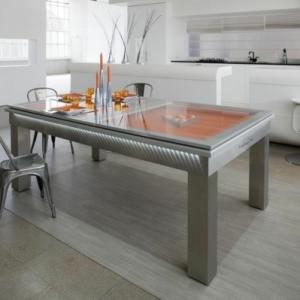 La table billard convertible - une solution jolie et pratique pour la salle de séjour