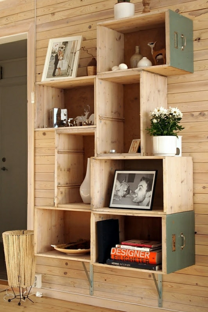 cube-de-rangement-en-bois-mur-en-plancher-idée-maison-en-bois-moderne