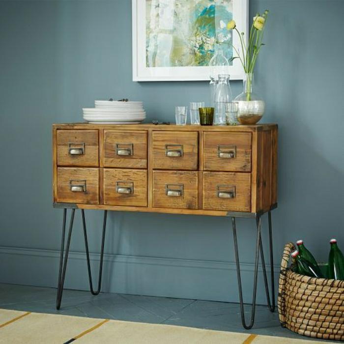 cube-de-rangement-mur-gris-déco-idée-aménagement-meuble-en-bois-d-appoint
