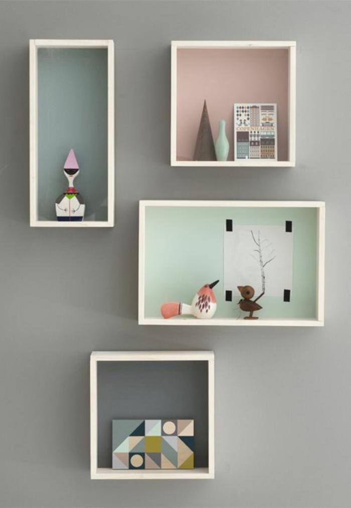 cubes-de-rangement-murale-idée-mur-gris-décoration-murale-etagere-murale