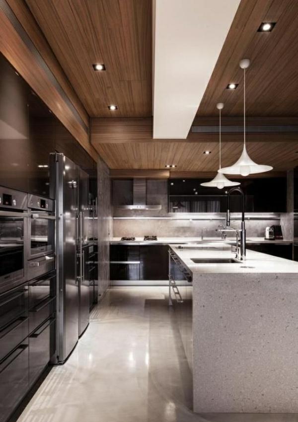 Maison de luxe moderne interieur cuisine for Interieur cuisine moderne