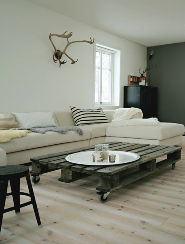 50 id es pour une table basse avec palette. Black Bedroom Furniture Sets. Home Design Ideas