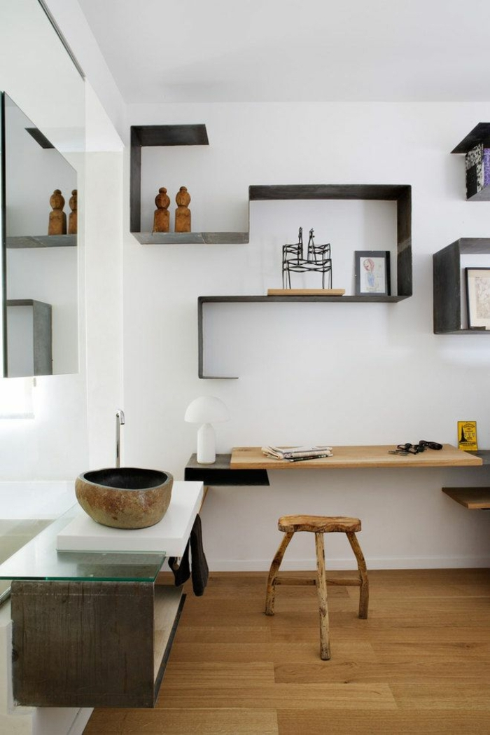 Le cube de rangement les variantes pour une tag re for Deco etagere murale salon