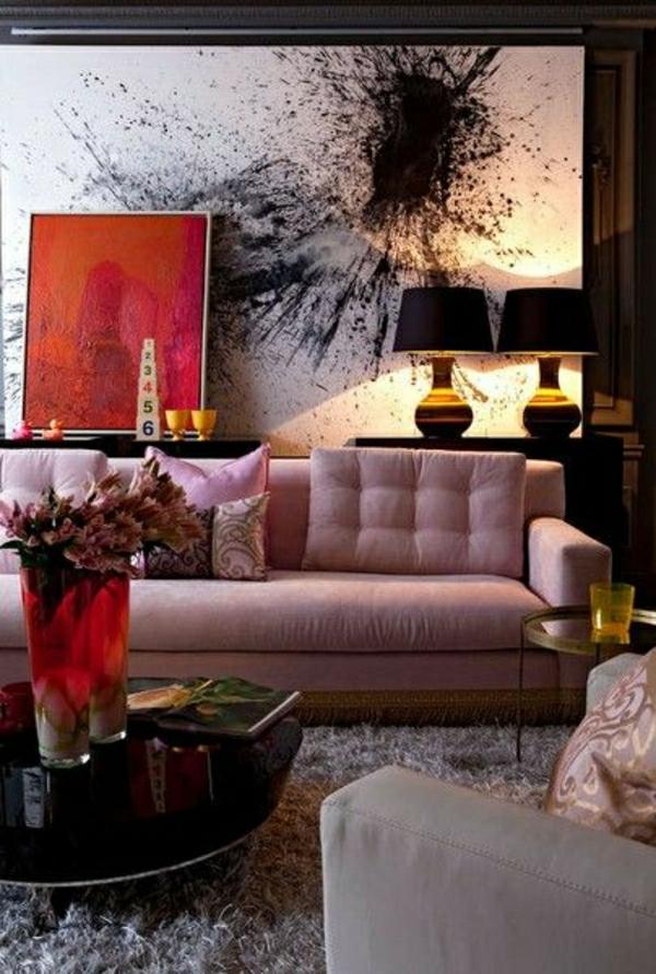 décorer-le-salon-peintures-murales-idées