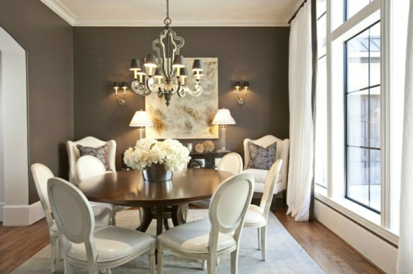Les chaises de salle manger 60 id es - Pinturas para comedores ...