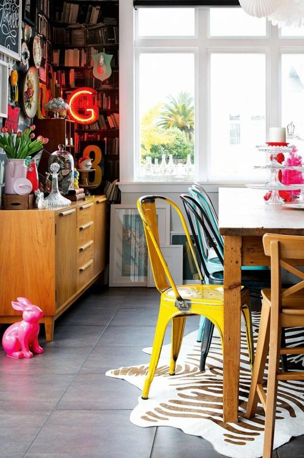 design-chaises-salle-à-manger-idee-creative-fer-vintage