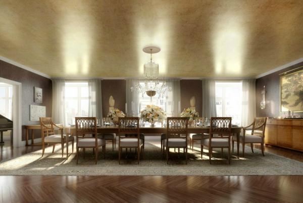 design-chaises-salle-à-manger-idee-creative-table-longue