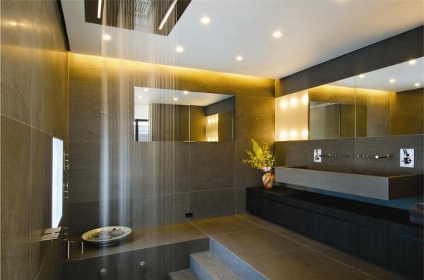 douche-pluie-évier-long-rectangulaire-salle-de-bains-grise