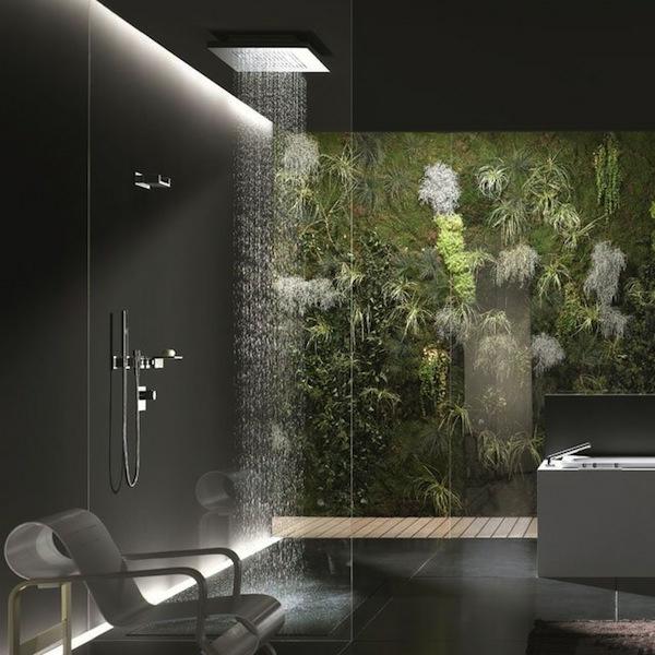 la douche pluie designs fantastiques de douches. Black Bedroom Furniture Sets. Home Design Ideas