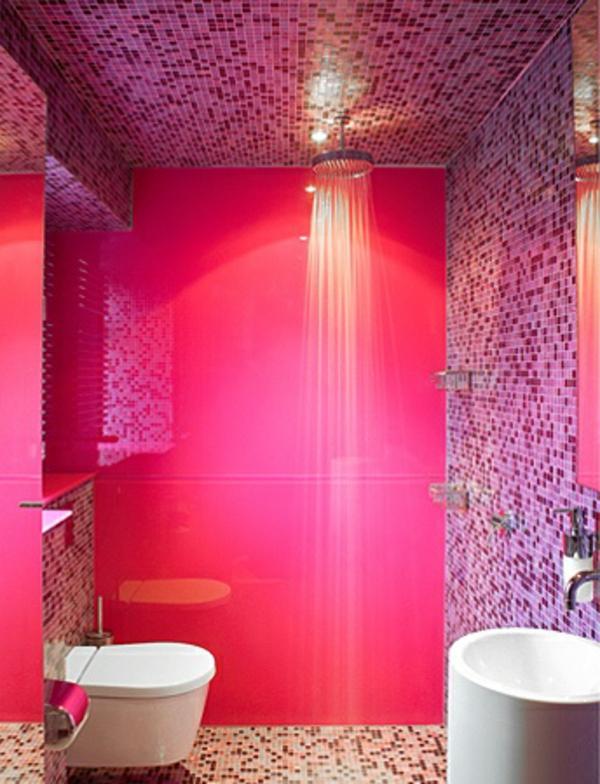 douche-pluie-salle-de-bain-rose