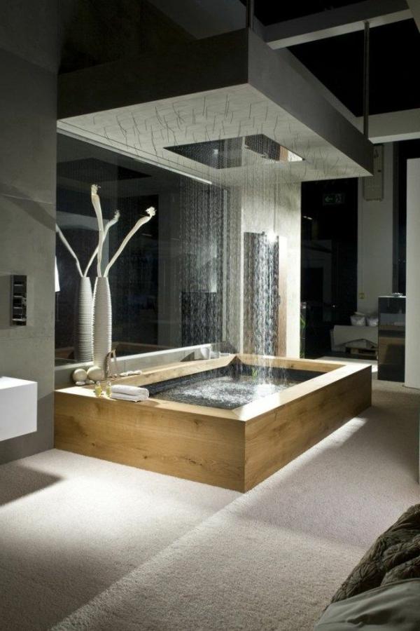La douche pluie designs fantastiques de douches for Ambiance salle de bain zen