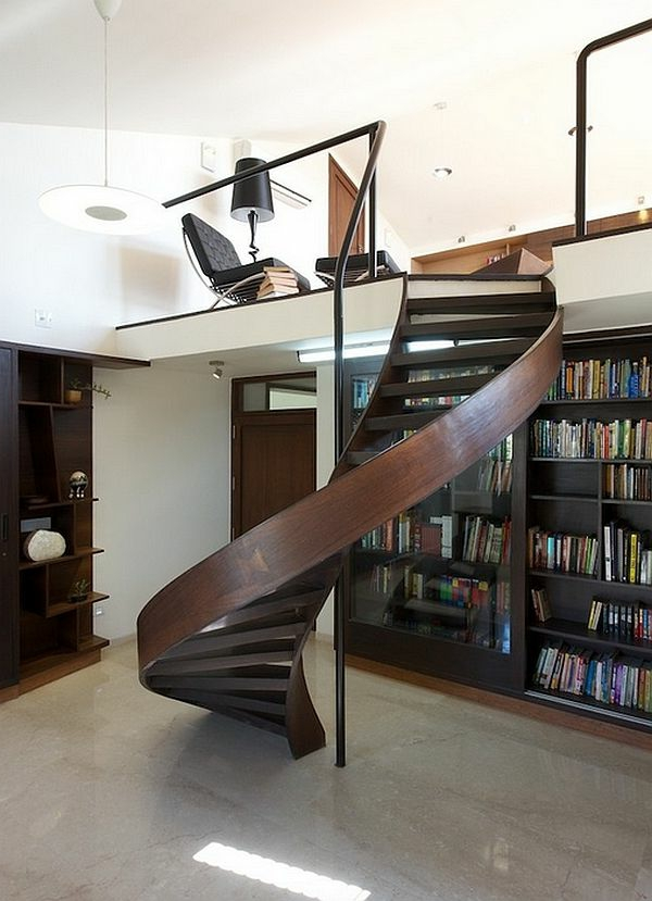escalier-pour-mezzanine-design-ondulant