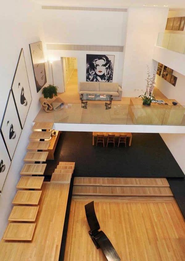 escalier-pour-mezzanine-design-super-original-d'escalier-en-bois