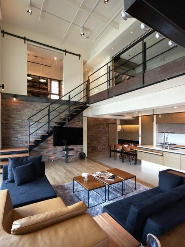 escalier-pour-mezzanine-en-métal-sofa-cuir
