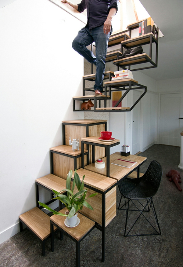 Choisir un escalier pour mezzanine pour son loft - Escalier mezzanine rangement ...
