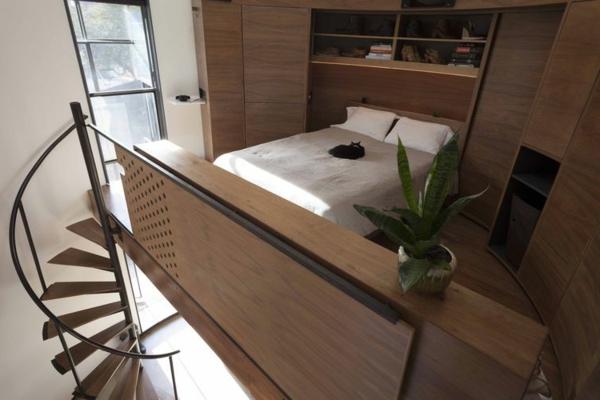 escalier-pour-mezzanine-petite-chambre-à-coucher