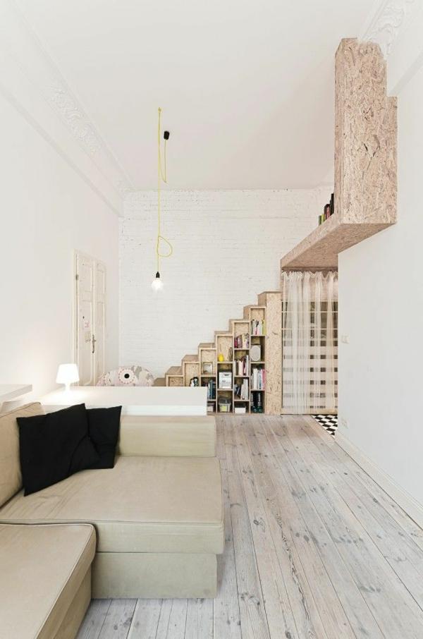 escalier-pour-mezzanine-sol-en-bois-appartement-scandinave