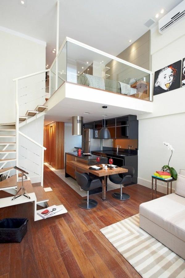 Choisir un escalier pour mezzanine pour son loft for Lit mezzanine pour studio
