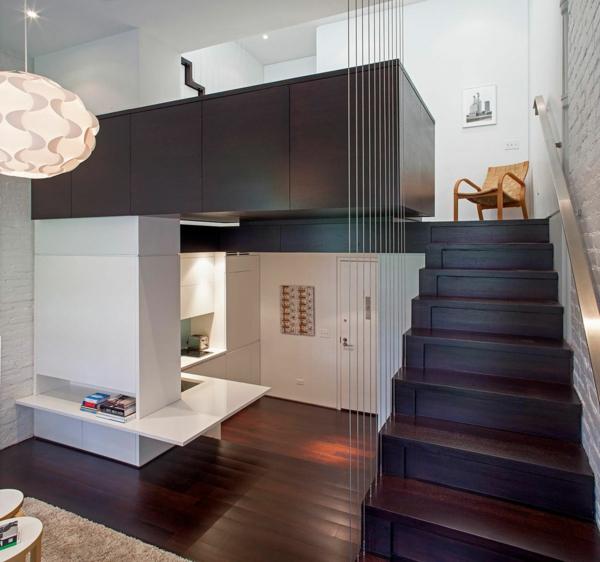 escalier-pour-mezzanine-un-micro-loft-à-New-York