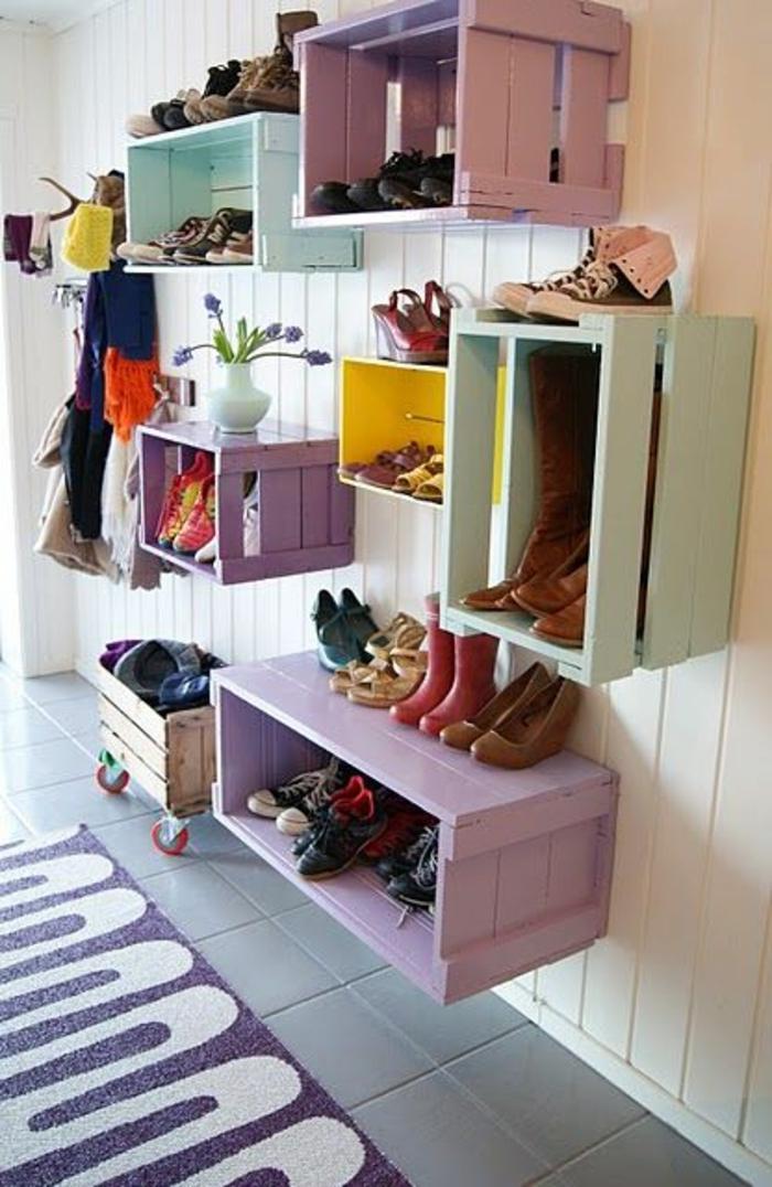 etagere-cube-aménagement-idée-originale-chaussures-rangement-cubes