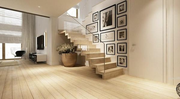Designs d 39 escaliers avec garde corps en verre for Garde corps bois interieur