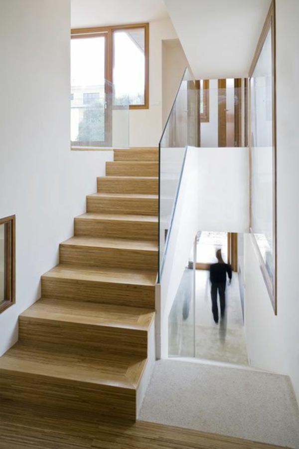 Designs d 39 escaliers avec garde corps en verre - Escalier sans garde corps ...