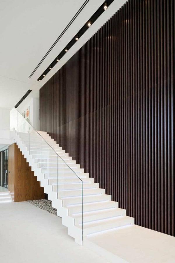 Designs d\'escaliers avec garde-corps en verre - Archzine.fr