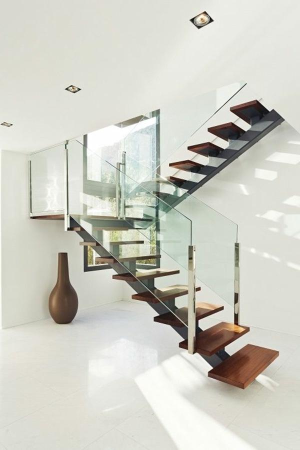 Designs d 39 escaliers avec garde corps en verre - Escalier verre et metal ...