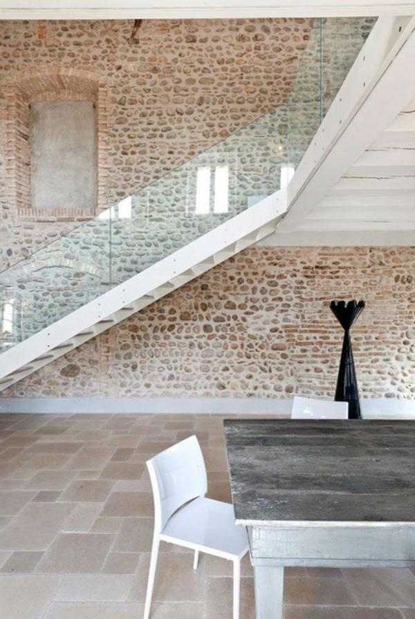 Designs d 39 escaliers avec garde corps en verre for Mur en verre interieur