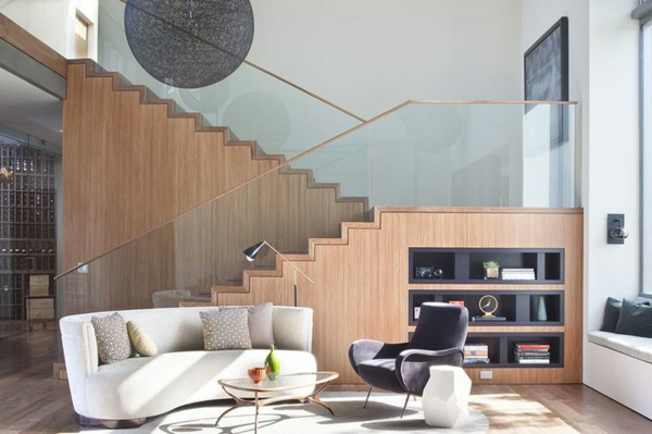 Designs d 39 escaliers avec garde corps en verre - Garde corps en verre pour mezzanine ...