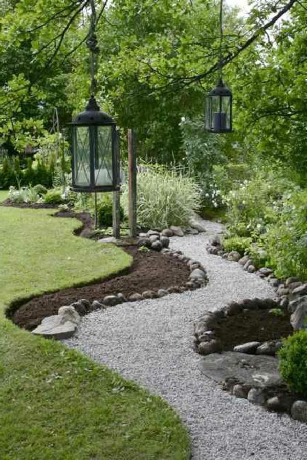 Cr er le plus beau jardin avec le gravier pour all e for Installer gravier jardin