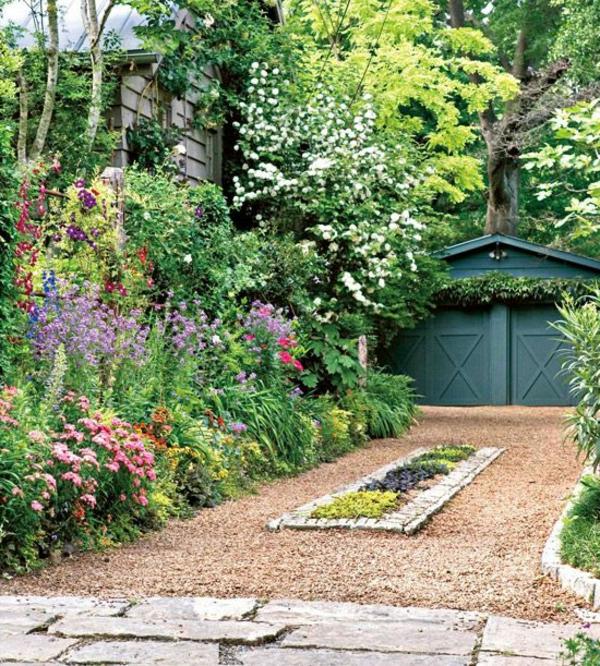 Cr er le plus beau jardin avec le gravier pour all e - Deco jardin avec gravier blanc nice ...