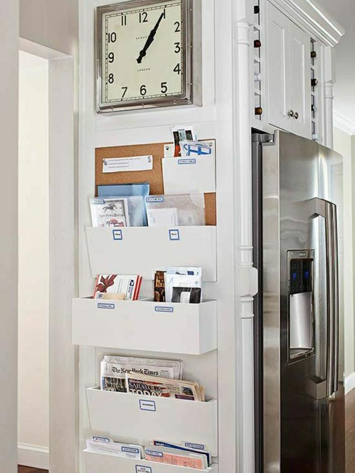 horloge-design-élégant-pendule-murale-cuisine-fridge-déco-idée