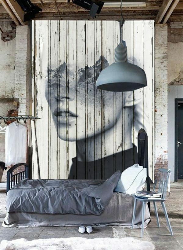 idée-décoration-salon-mural