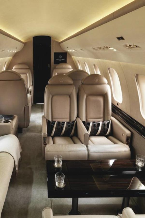 jet-fly-vente-pri-intérieur-luxe-canapé-en-cuir-beige-gris