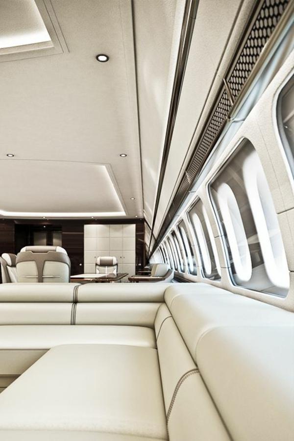 jet-fly-vente-pri-intérieur-luxe-canapé-en-cuir-blanc