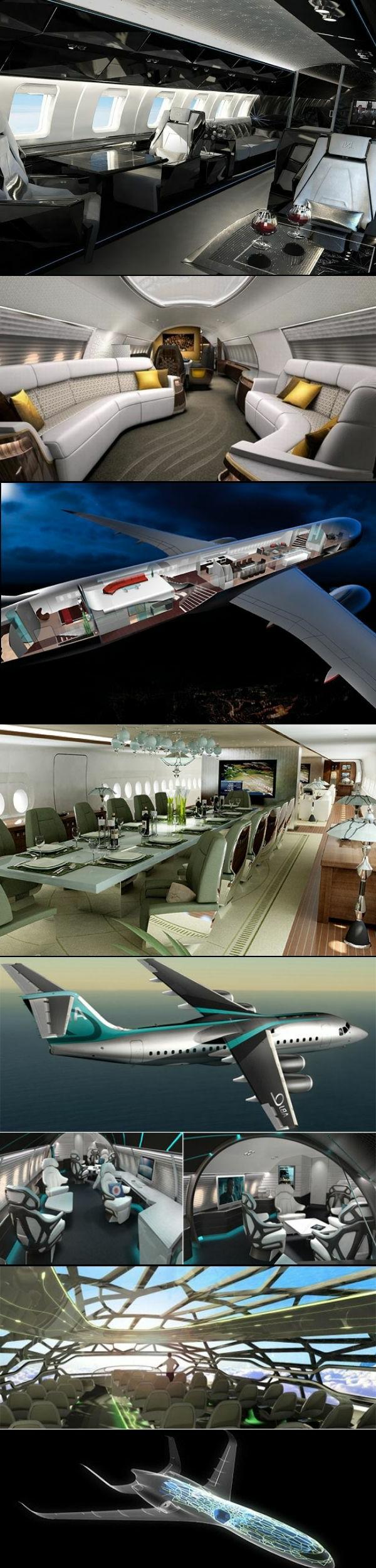 jet-privé-vol-intérieur-luxe-extraordinaire-noir-cuir