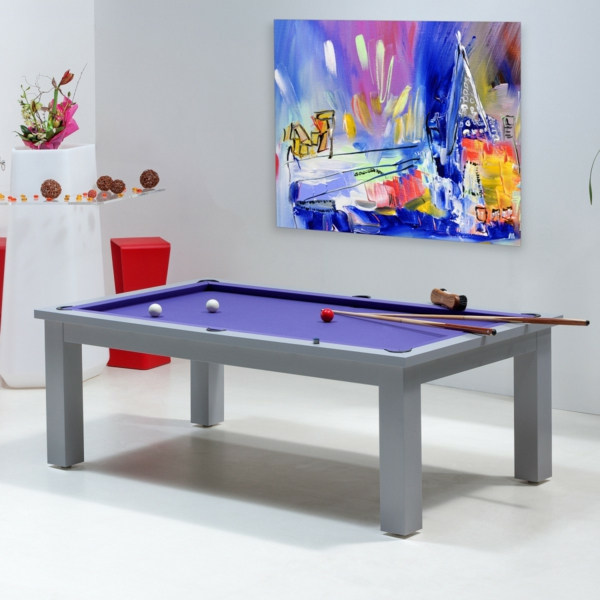 La table billard convertible une solution jolie et for Table pour manger dans le salon