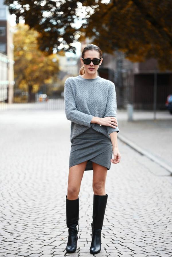 jupe-portefeuille-grise-jupe-courte-portefeuille