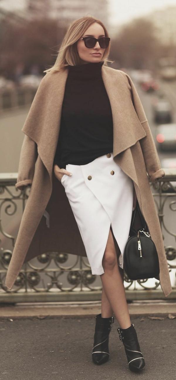 les tenues avec la jupe portefeuille. Black Bedroom Furniture Sets. Home Design Ideas
