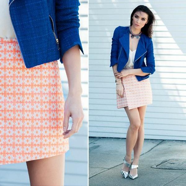jupe-portefeuille-motifs-géométriques