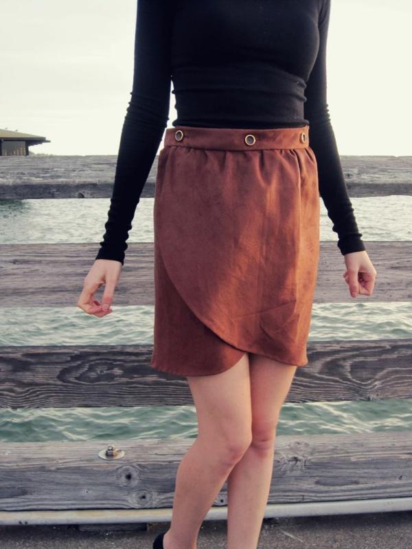 jupe-portefeuille-orange-vintage