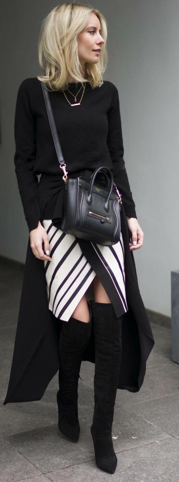jupe-portefeuille-rayures-diagonales