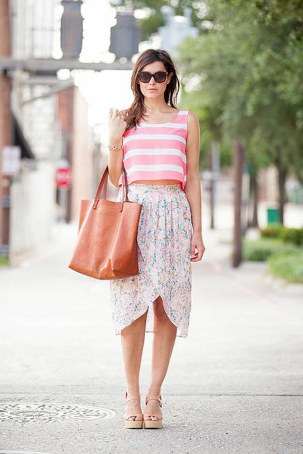 jupe-portefeuille-tenue-d'été-fraîche